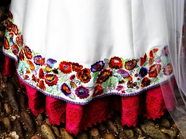 vestido novia pollera
