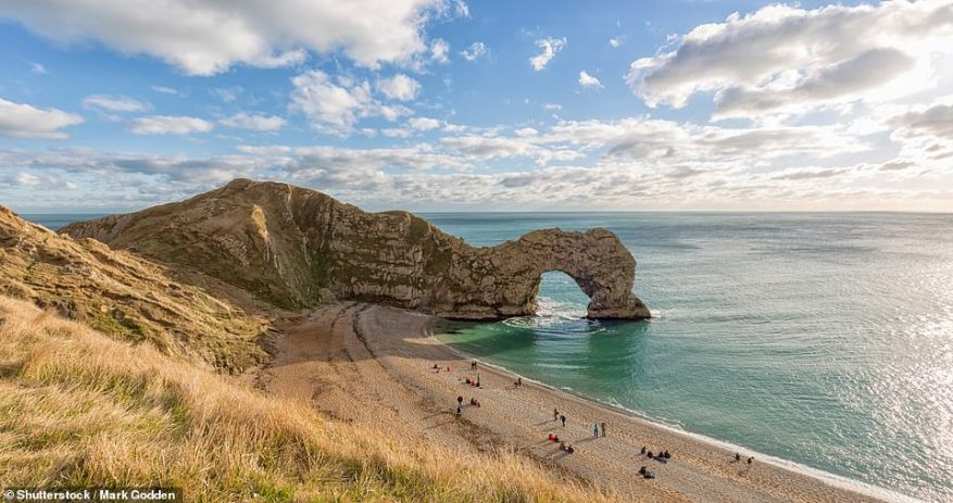 The Swanage Bay View caravan site makes a good base for exploring Dorset's Jurassic Coast. Pictured is Durdle Door
