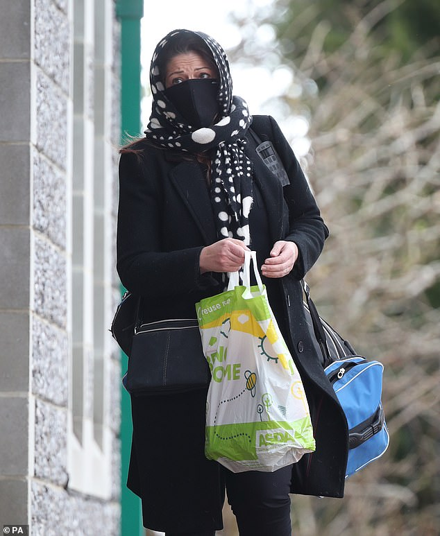 Yesterday the callous extent of the single mother's deception was laid bare, as she was jailed at Canterbury Crown Court for two years and nine months for fraud by false representation and possession of criminal property. Pictured: Elkabbas arriving at Canterbury Crown Court on Wednesday before her sentencing