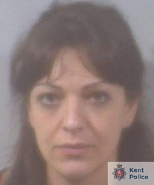 Elkabbas was found guilty of one count of fraud. She is pictured in a police mugshot