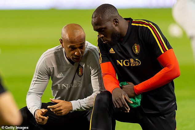 He was a big influence on star striker Romelu Lukaku (right) during their time with Belgium