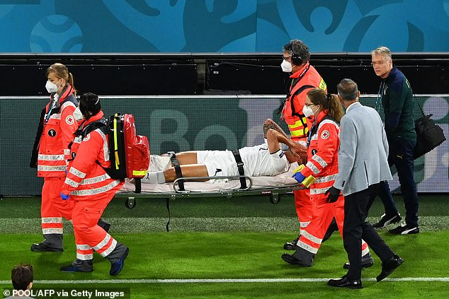 Italy's hopes were jeopardised when star man Leonardo Spinazzola was ruled out injured