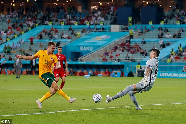 Aaron Ramsey scored a crucial goal for Wales against Turkey to send them into the round of 16