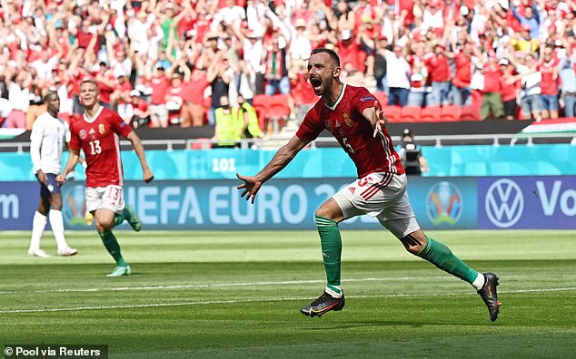 Attila Fiola sent the Puskas Arena wild when he put Hungary into the lead against France