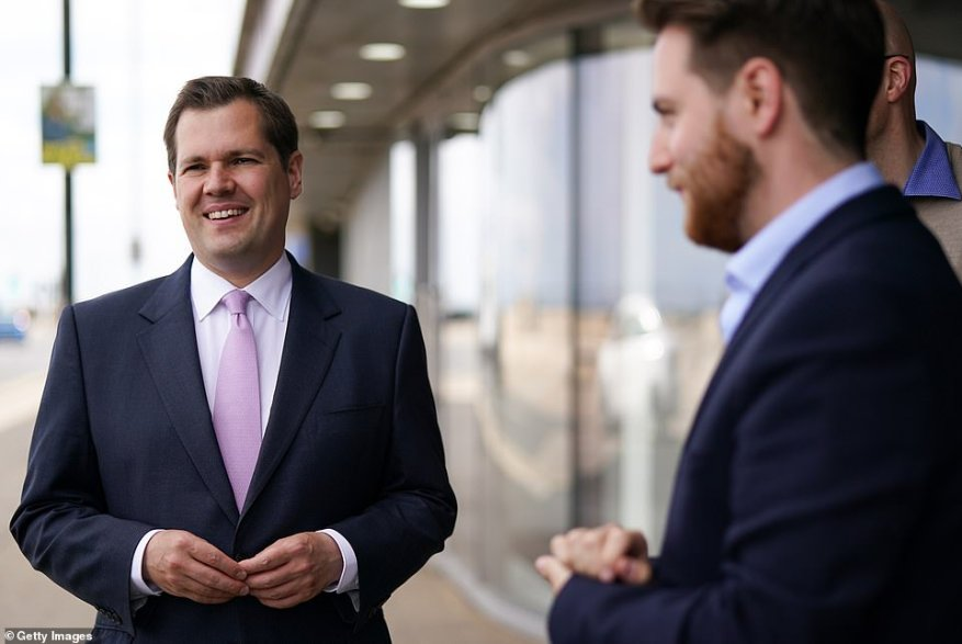Communities Secretary Robert Jenrick (pictured visiting Redcar last week) said ministers were still considering how the app could be updated