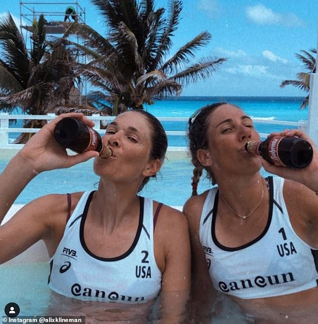 Ross, pictured withKlineman, won a silver medal at the 2012 Summer Olympics with Jennifer Kessy, and a bronze medal at the 2016 Summer Olympics with Kerri Walsh Jennings
