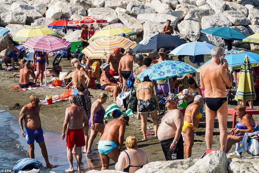 A blistering heat dome dubbed 'Lucifer' was heading north to Portugal, central Italy, and towards Rome on Thursday as hot air from the Sahara continued to engulf large parts of the Mediterranean region