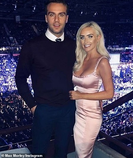 Playing the field: Max has dated the likes of fellow reality stars Zara Holland, Charlotte Crosby, and Laura Anderson [pictured]. He has also appeared on Ex On The Beach