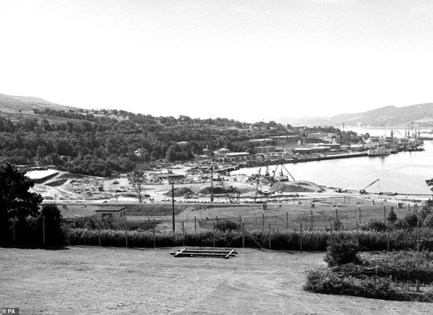 In 1969, the UK committed to the policy which remains in place today - Continuous At Sea Deterrence (CASD). Above: Faslane in the 1980s