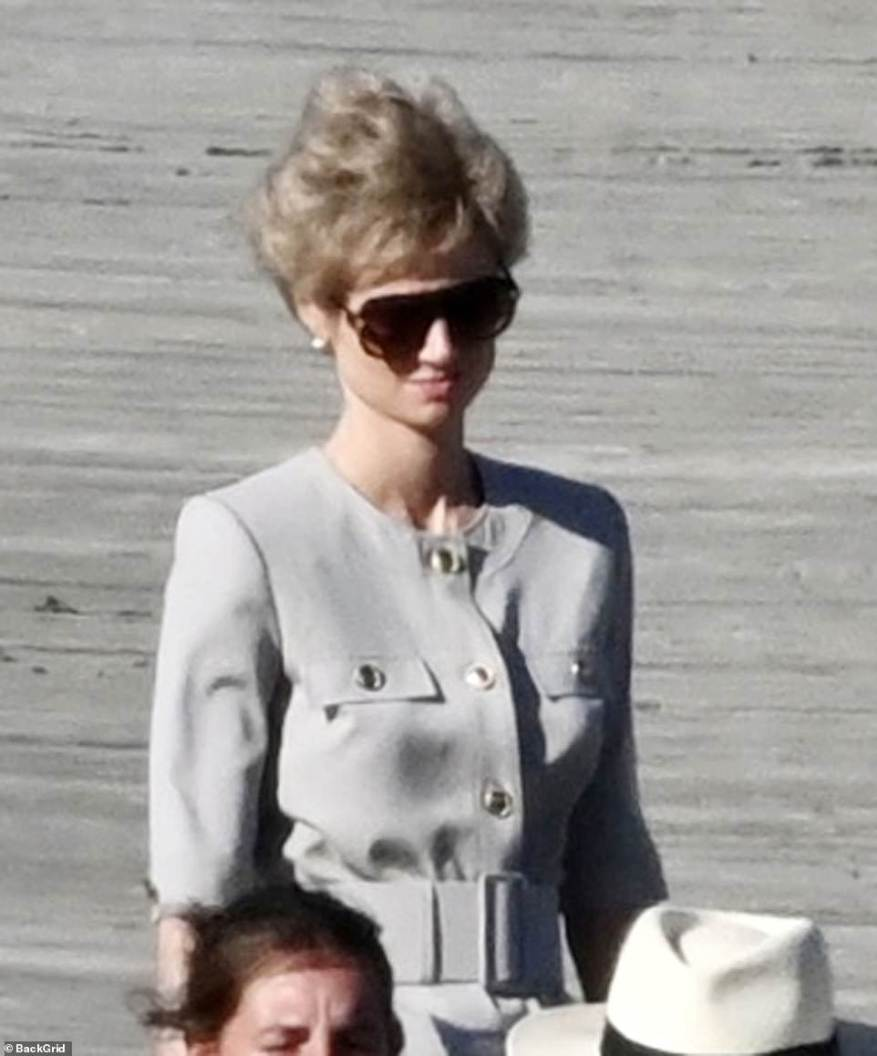 Royal: The Australian actress completed her look with a pair of sunglasses