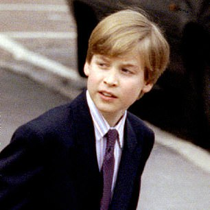 Prince William is pictured in 1992