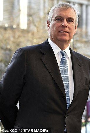 Royal role: Prince Andrew is pictured in 2020