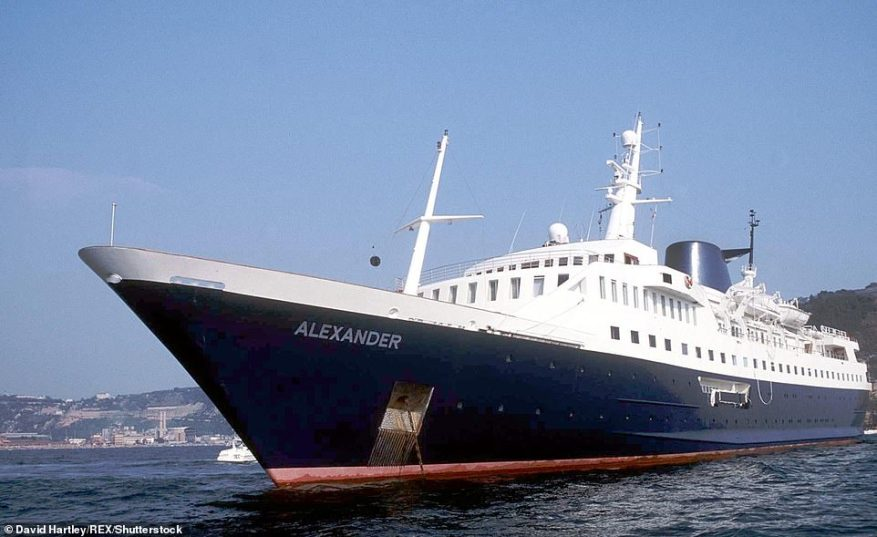 All aboard! In 1991, the royals enjoyed a trip on Alexander,at the time the world's third-biggest private yacht which has solid gold taps and a swimming pool on every deck
