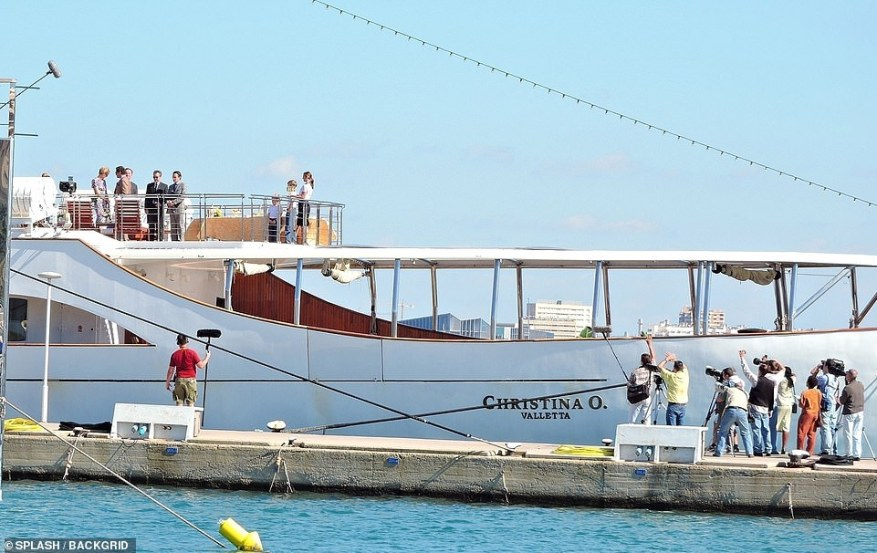 Yacht: The huge boat was the perfect filming location to shoot the scenes