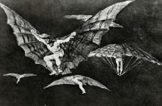 08. Goya. Disparate 13. Modo de volar. 1815-24