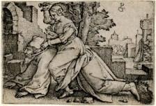 14. George Pencz. Fílis e Aristóteles. 1530