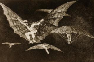 01. Disparate n.º 13. Modo de volar. 1815-1823.