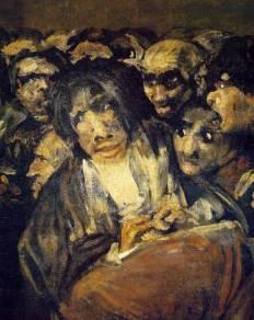 26. Goya. Sabat das bruxas. Pormenor. 1819-23