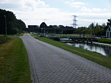 path along road and canal