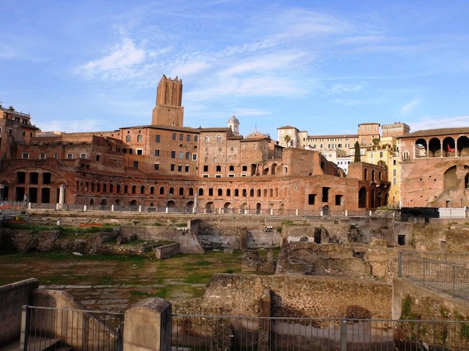 Marché couvert de Trajan à Rome