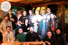 Reunión en café 7 distintos colectivos makers de Tenerife
