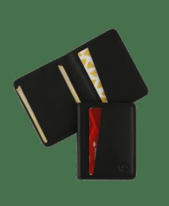 Black slim bifold wallet