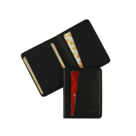 Black slim bifold wallet