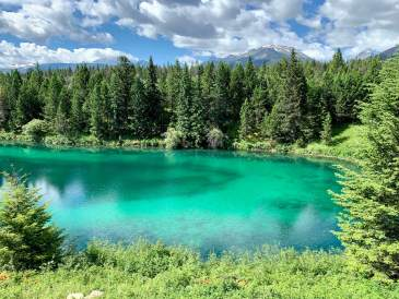 Valley of the five lakes has gemstone colored water.