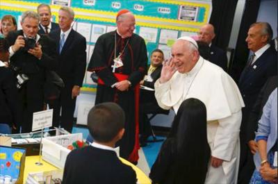 Visita del Papa a los niños de Harlem