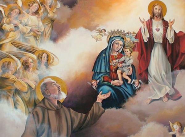 Padre Pío y la Virgen