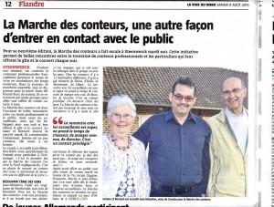 Un article de la presse local sur le rapport avec les hébergeants...