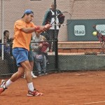Nico en la final de dobles del ATV de Chile