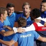 Festejo de Francia al derrotar a Republica Cheeca