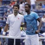 Djokovic, salio adelante a pesar del partido complicado que le planteó Monfils