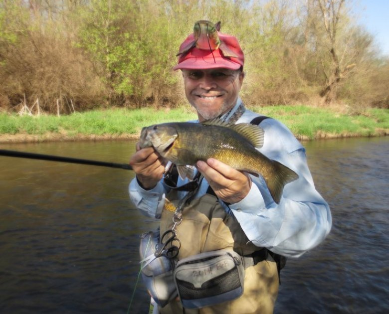 Bob at Blackberry Creek - Spring Smallies - Tenkara - April 2019.jpg