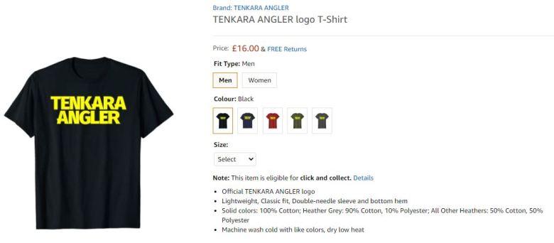 Tenkara Angler Logo T-Shirt Germany United Kingdom