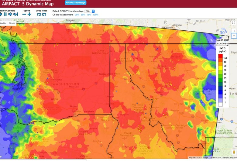 Diane Kelly-Riley - Fire Season Idaho - Smoke Forecast Map