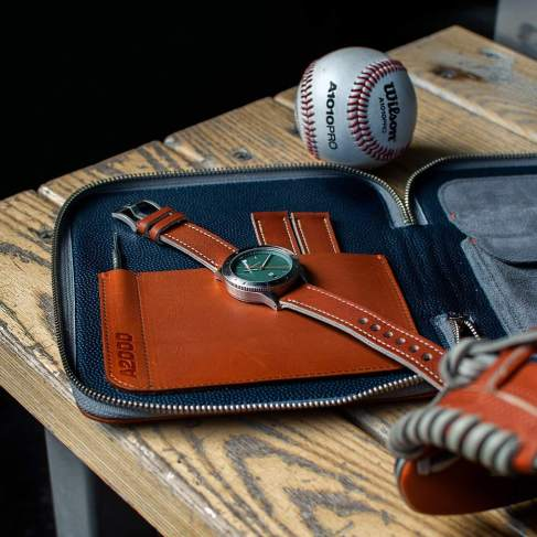 Practical oackaging with a watch wallet