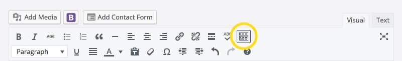 WordPress toolbar toggle