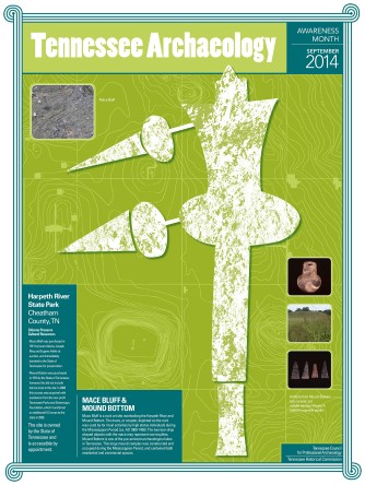 The 2014 Tennessee Archaeology Awareness Month 2014 poster. Design by Noel Lorsen.