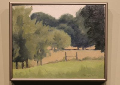 N. Pasture Through Trees by Nancy O'Neal
