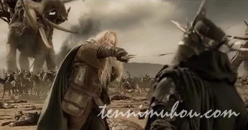 アングマールの魔王を突き刺すエオウィン