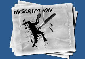 Inscriptions Tennis
