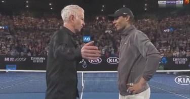 Rafael Nadal court interview After Q-Finals Match