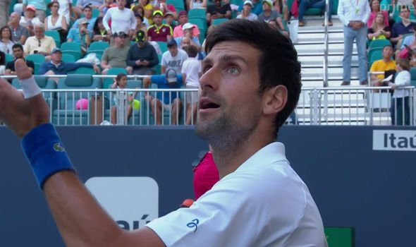 Novak Djokovic criticized Miami's court