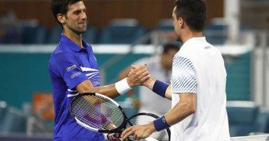 Novak Djokovic gives the credit to Agut