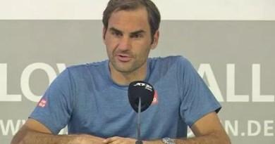 Roger Federer Press Conference after Millman match