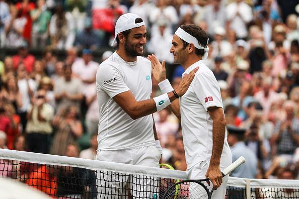Roger Federer: Berrettini's coach thanked me