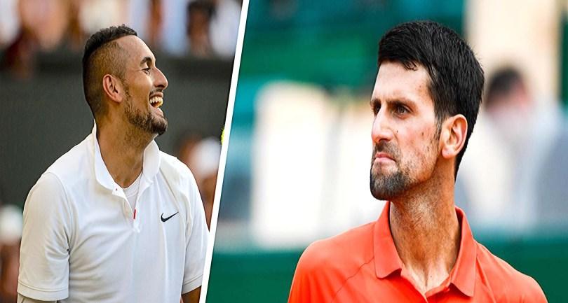 Nick Kyrgios Drops Djokovic name on a shirt