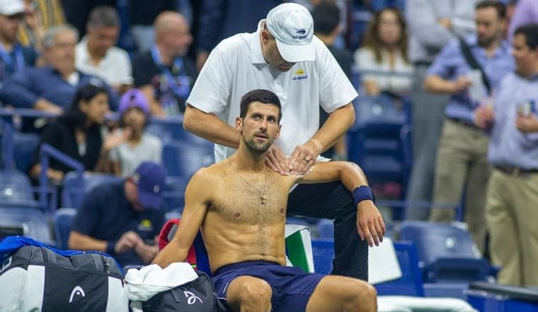 Novak Djokovic gives an update about the shoulder injury